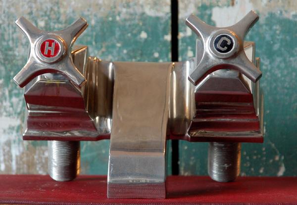 Un-restored – Square bath mixer tap