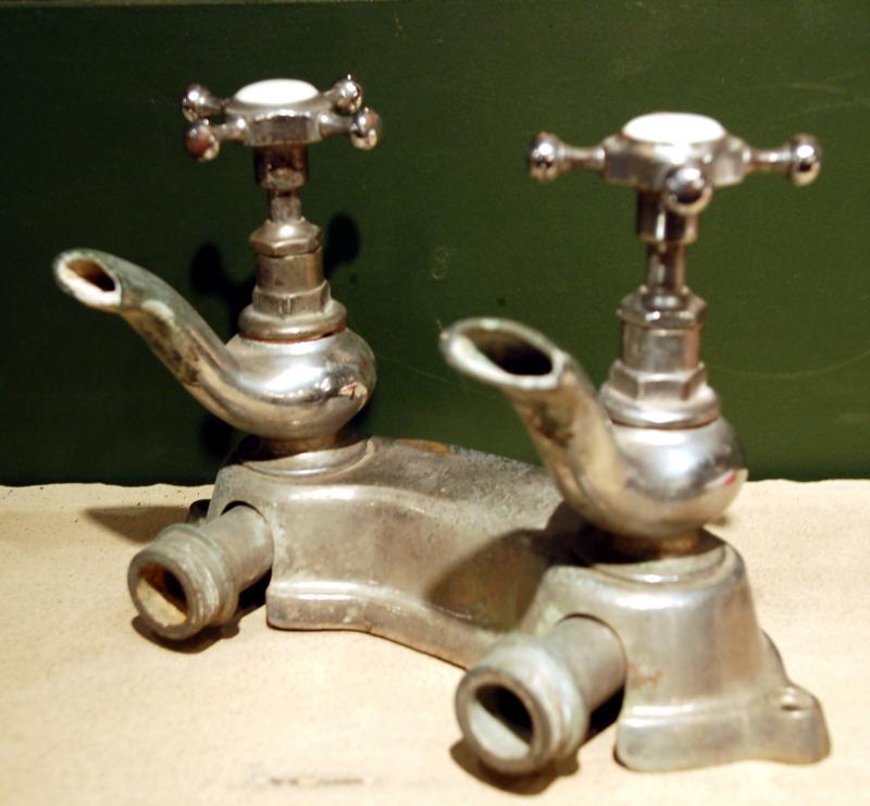 Un-restored French bath taps