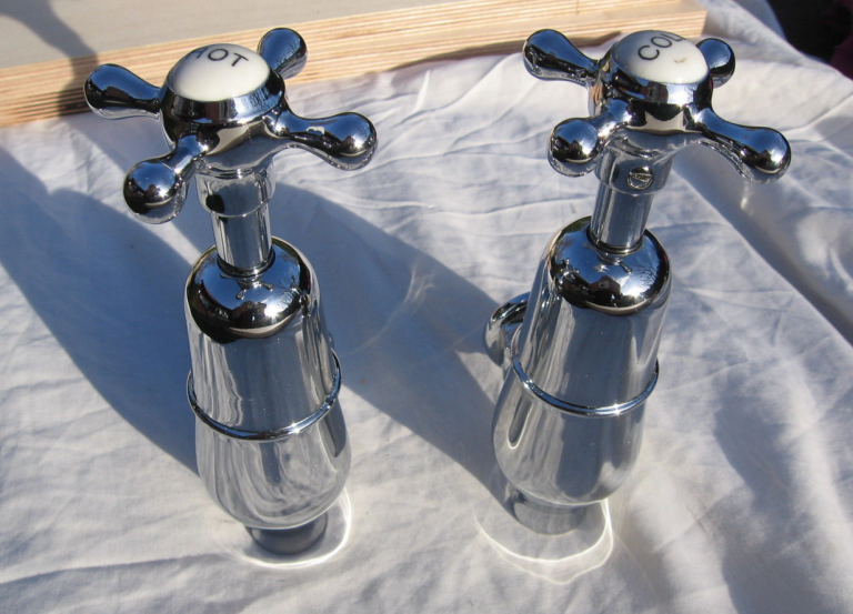 Chrome plated Globe taps