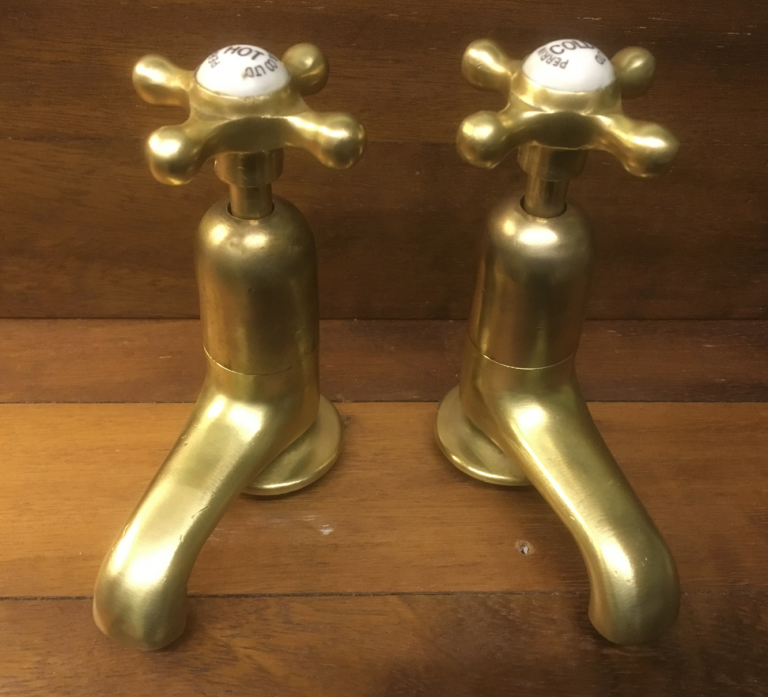 Our new BURNISHED finish Basin Taps – FOR SALE