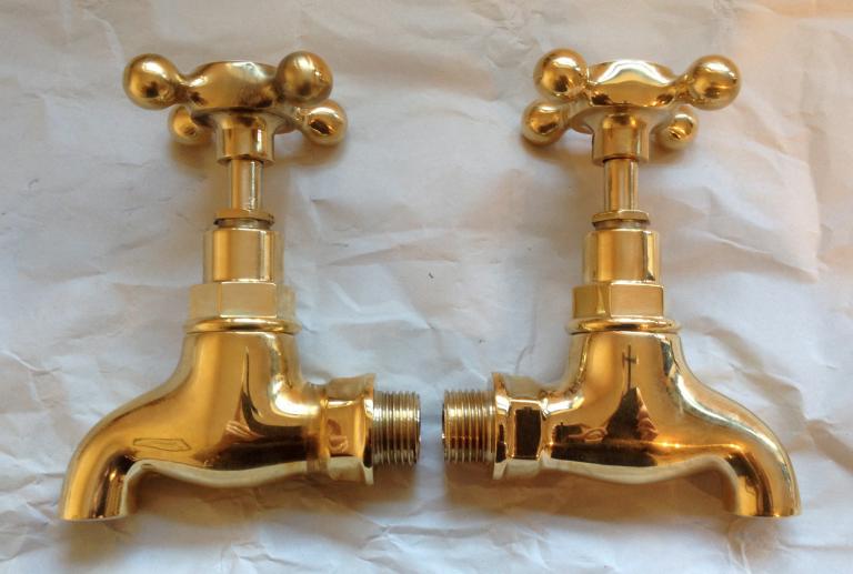 1/2″ Polished Brass Bib Taps – FOR SALE