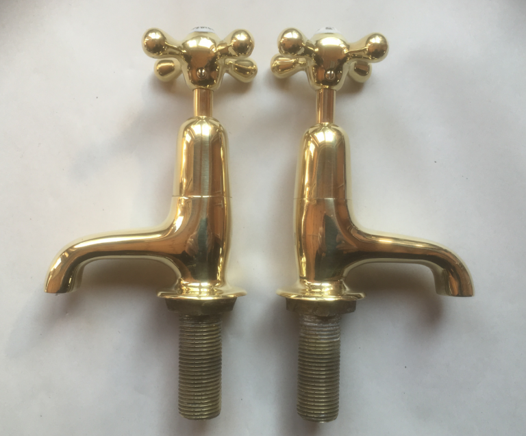Old Brass Basin Taps.