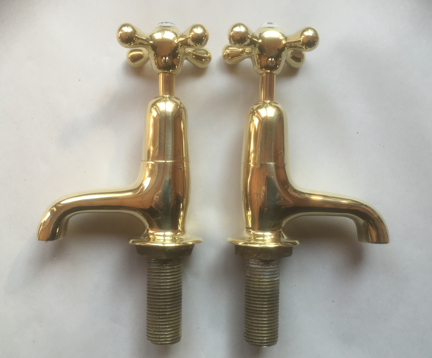 Old Brass Basin Taps.